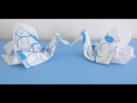 How to make Tissue Paper Swan very easily ...( Napkin Swan Tutorial )