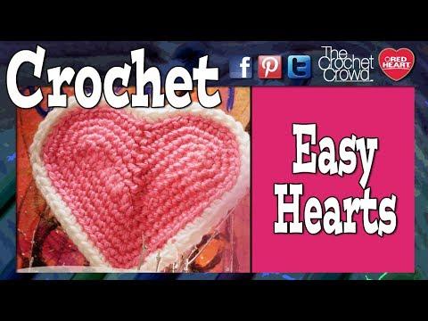 How to Crochet a💖 Heart: Easy Hearts