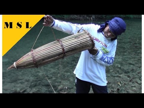 BAMBOO FISH TRAP First Test and Jungle Overnight part2, Jungle Bushcraft, Primitive Survival