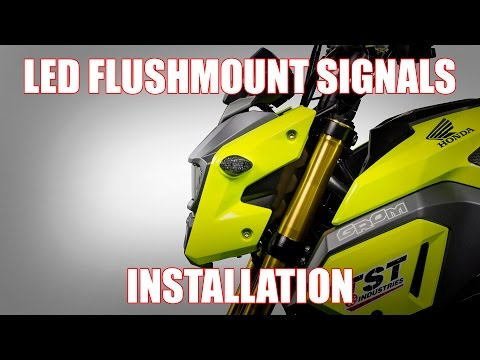 How to install LED Flushmount Signals on a 2017+ Honda Grom by TST Industries