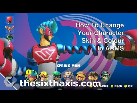 ARMS - How To Change Your Character Skin & Colours