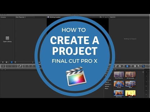 How To Create A Project - Final Cut Pro X Tutorial   Online Video Maker