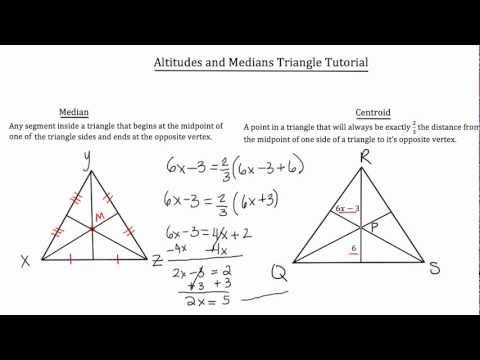 Altitudes and Medians of a Triangle