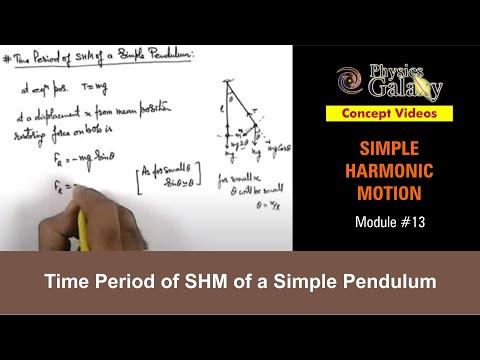 13. Class 11th Physics   SHM   Time Period of SHM of a Simple Pendulum   by Ashish Arora
