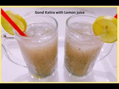 Gond Katira with Lemon Juice recipe | Summer Drink special