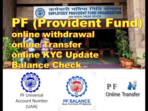 PF online Withdrawal in hindi | Balance Check | Transfer | KYC Update