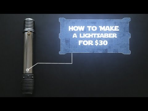 How to make a lightsaber prop for $30