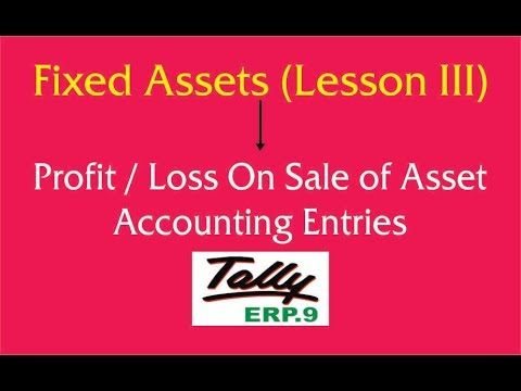 Fixed Asset Sales Entries || Accumulated Depreciation Adjustment Entry