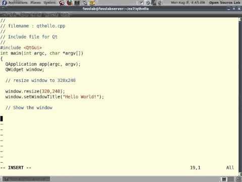 gui programming in qt example 1 qthello