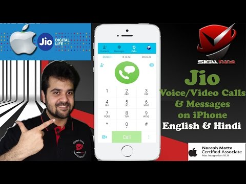 How to Make Voice/ Video Calls on Jio and How to Send/Receive Messages - iPhone, iPad!