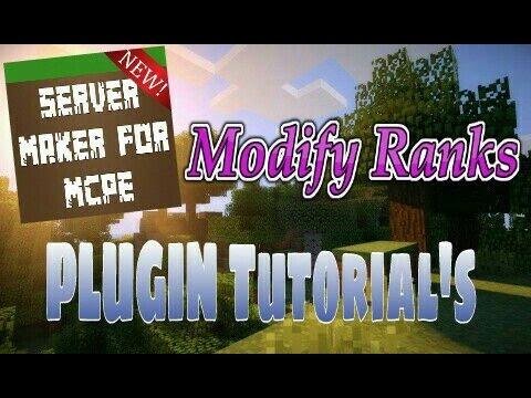 Modify Ranks - Server Maker For MCPE