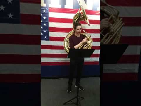 Tuba audition for Marine Corps Band.