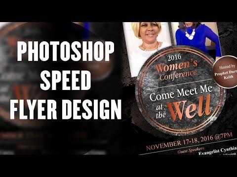 Photoshop Tutorial - Speed Church Flyer Design DM Inc