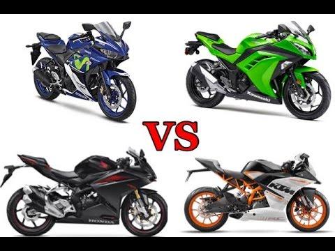 MV012 R25 vs Ninja 250FI vs CBR250RR vs RC250