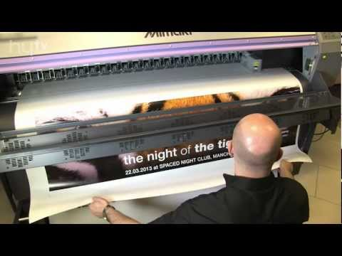 How to print and finish banners printed on your Mimaki - from HyTV