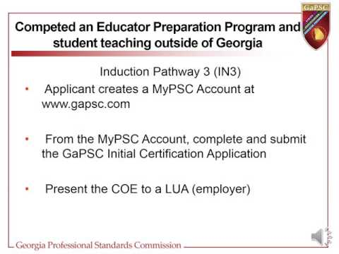 Certification Overview for Georgia's Pre-K Program