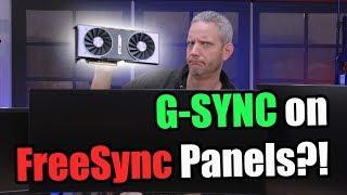 Freesync panels with NVIDIA G-Sync turned ON