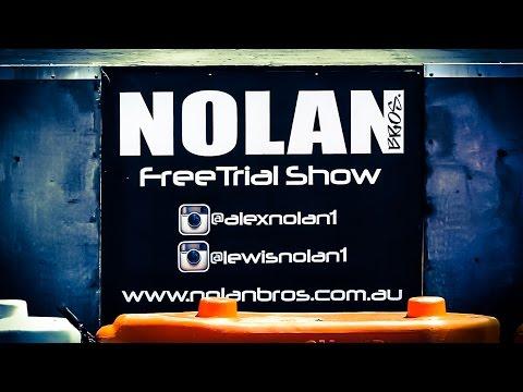 Perth Motorcycle Show | 70sec Nolan Bros Freetrial Demo 2015