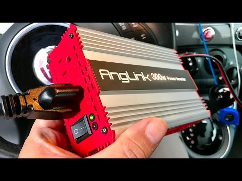 Anglink 300W 12V to 115V Car Power Converter Inverter with Dual AC Outlets and 2.4A USB Port