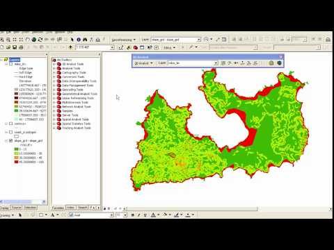 Create a slopes terrain map in ArcGIS