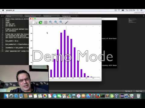Open source Gnuplot demos of histogram and line chart C++