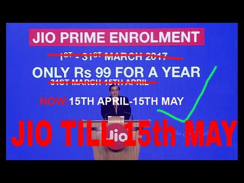 Jio PRIME Extended From 15th APRIL to 15th MAY|Latest OFFER Free 4G for next 4 months| [HINDI]