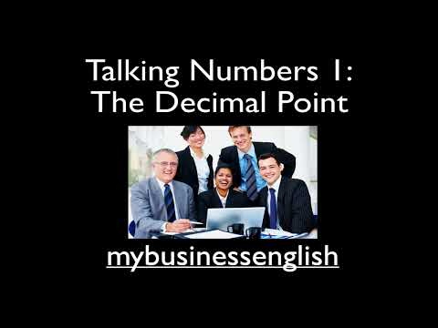 Talking Numbers 1: the Decimal Point