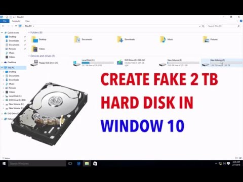 How to Increase the  Size your Hard Disk Space up to 2TB in Window 10 [Fake]