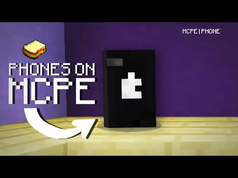 Minecraft, MCPE   How to make a Phone   No Addons, No Commands