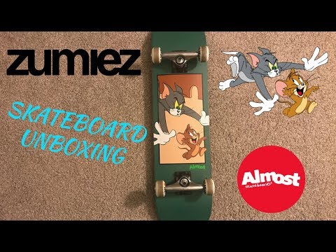 Unboxing Almost Tom & Jerry Complete Skateboard from Zumiez