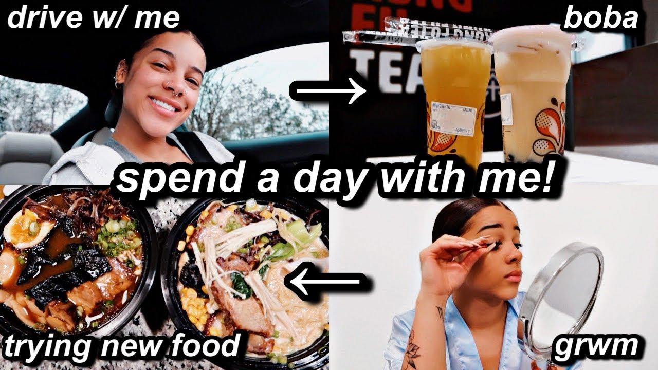 vlog: a day in my life! drive w/ me, boba + new food, grwm etc   Azlia Williams