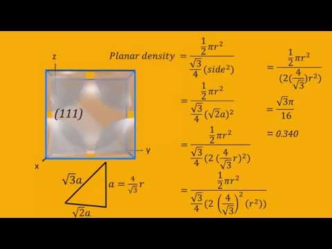 Linear and Planar Densities for Body Centered Cubic (BCC) Unit Cells
