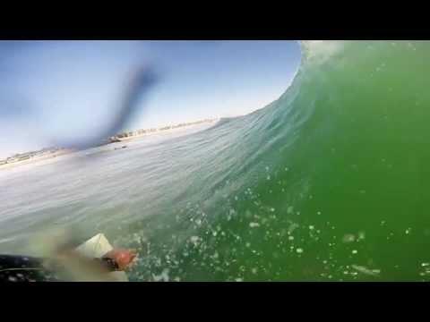 Surfing Newport Beach - Homemade GoPro Mouth Mount Test