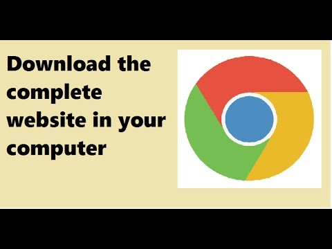 How to download whole website in your computer to run without internet