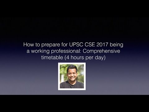 IAS/UPSC Preparation Timetable for Working Professionals by Roman Saini - Unacademy