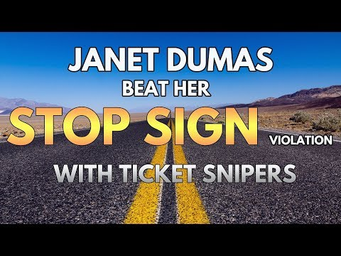 How to Beat a Traffic Ticket- Janet Dumas beats a stop sign violation CVC 22450
