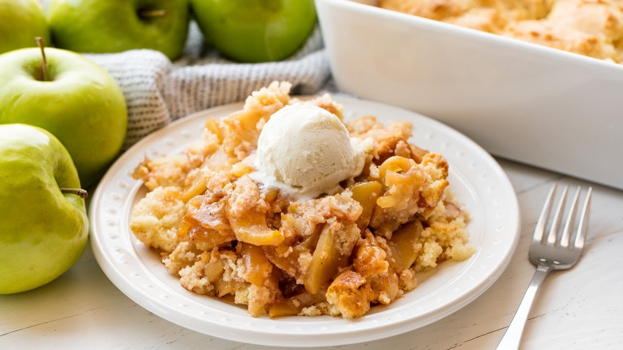 How to Make Old Fashioned Apple Cobbler   The Stay At Home Chef