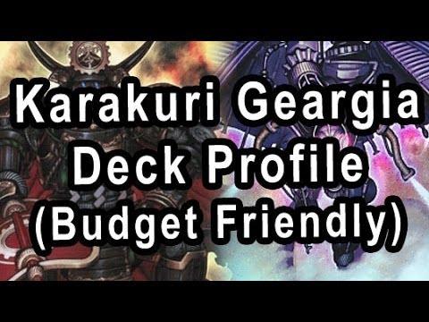 Karakuri Geargia Deck Profile (Budget Friendly)
