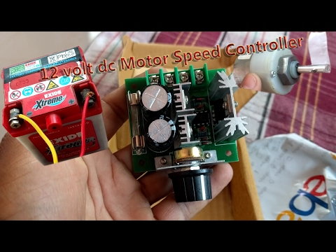 12Volt DC Motor Speed Controller