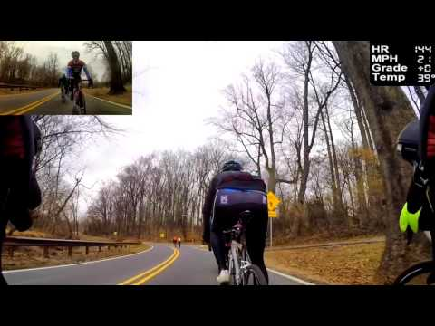 HD Cycling Training - Fast Group Ride, Rolling Hills (Indoor Trainer/Rollers)