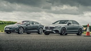 Tesla Model S P100D vs Merc-AMG E63 S - Drag Races - Top Gear
