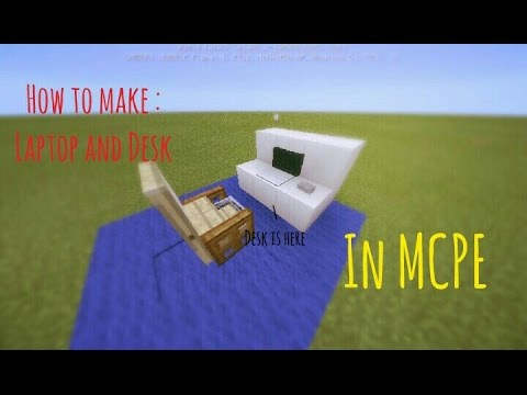 How to make a Laptop with Desk in MCPE!