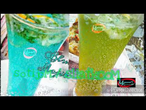 Tasty mocktails are here for you.  Blue and Orange-Mint Mojito / Mocktail