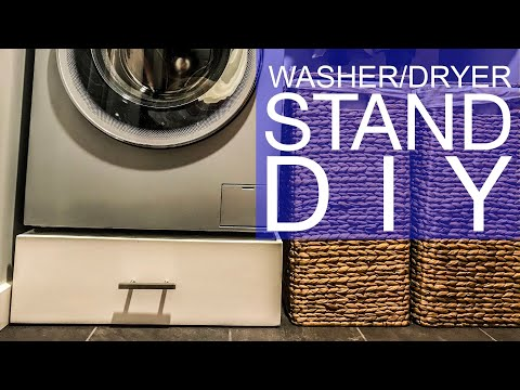 Washer Dryer Stand DIY $25