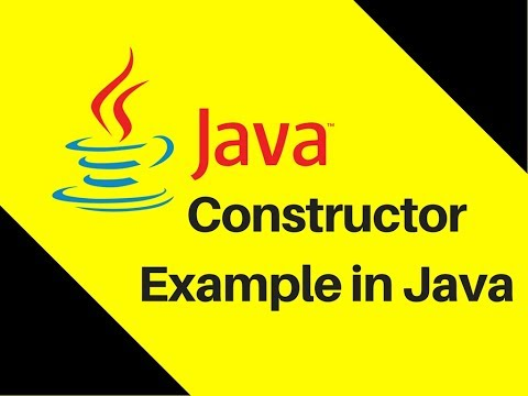 7.5 Constructor Example in Java