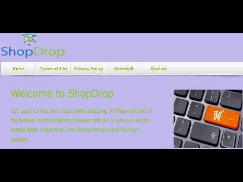 how to Remove ShopDrop Ads from Chrome,firefox,explorer