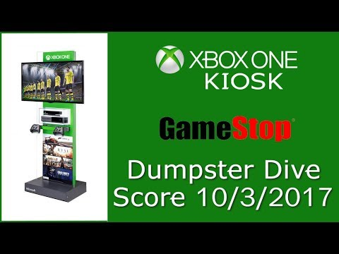 XBOX ONE KIOSK - GameStop Dumpter Dive Find