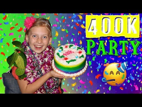 RAINBOW CAKE, SLIME & FUN! Alyssa's 400K Party in Hawaii Compilation