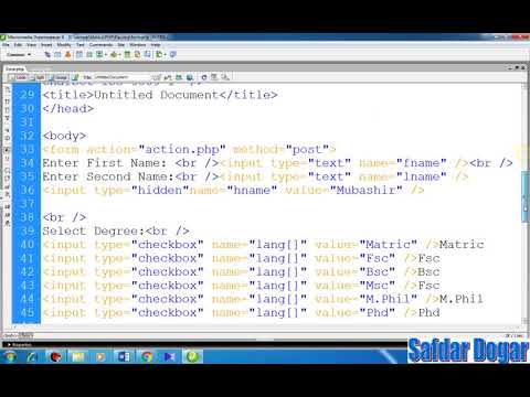 Beginner PHP Tutorial -48- How Same Page form data validation  in php(Urdu/Hindi)