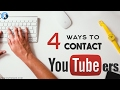 How to Contact a Youtuber | How to Contact a YouTube Channel | 4 Ways to Do so